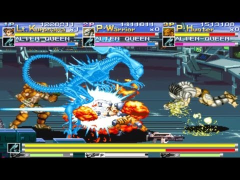 Alien vs. Predator - Co-op Playthrough (ARCADE)