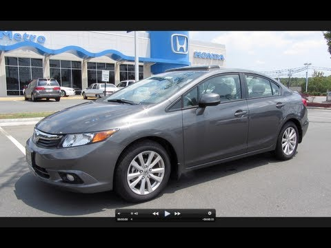 2012 Honda Civic EX-L Start Up, Engine, and In Depth Tour