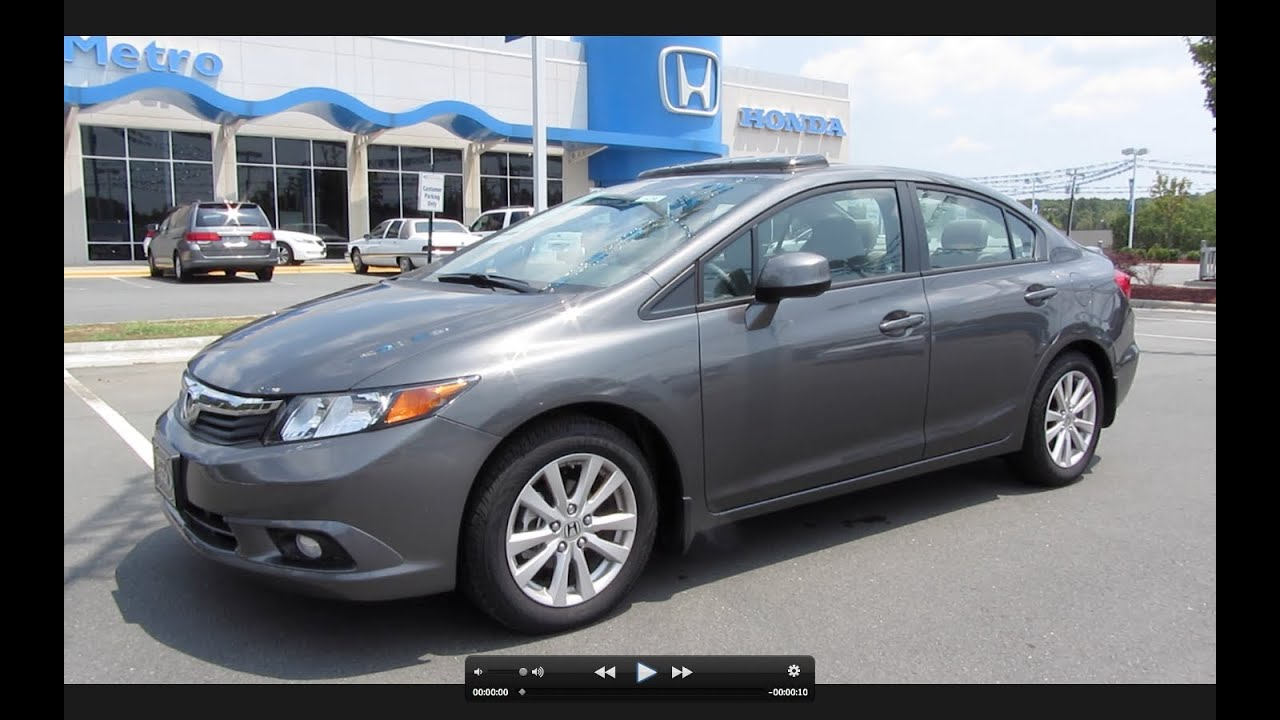 2012 Honda Civic EX-L Start Up, Engine, and In Depth Tour ...