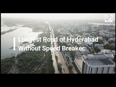 Hyderabad City   Drone view   With Names   October 2017