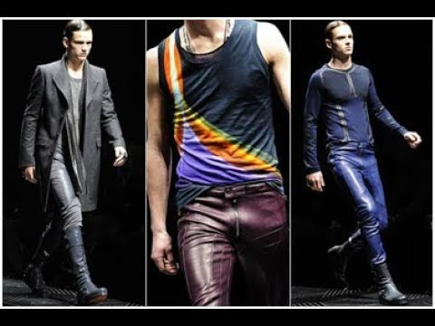Mens Fashion Leather Pants Youtube