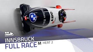 Innsbruck | BMW IBSF World Cup 2020/2021 - 2-Man Bobsleigh Race 2 (Heat 2) | IBSF Official