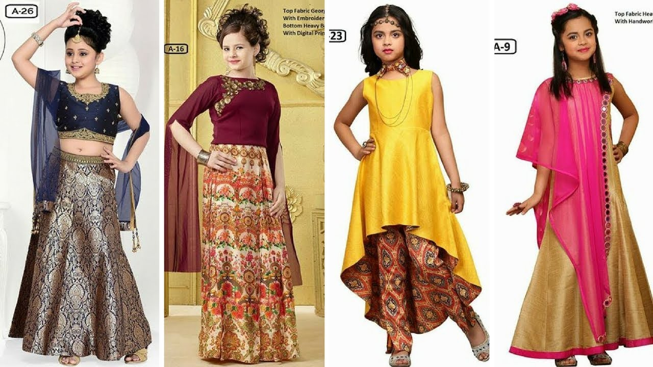 Kids Party Wear Traditional Dress Designs Catalogue // Baby Girls ...
