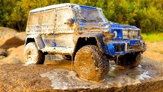 RC Car Wash — How To Clean RC Cars After MUD or OFF Road — Mercedes Benz G500 4x4² MST CFX W