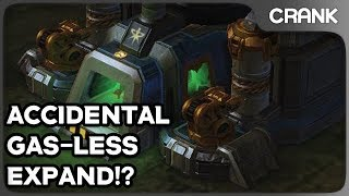 Accidental Gas-less Expand!? - Crank's StarCraft 2 Variety!