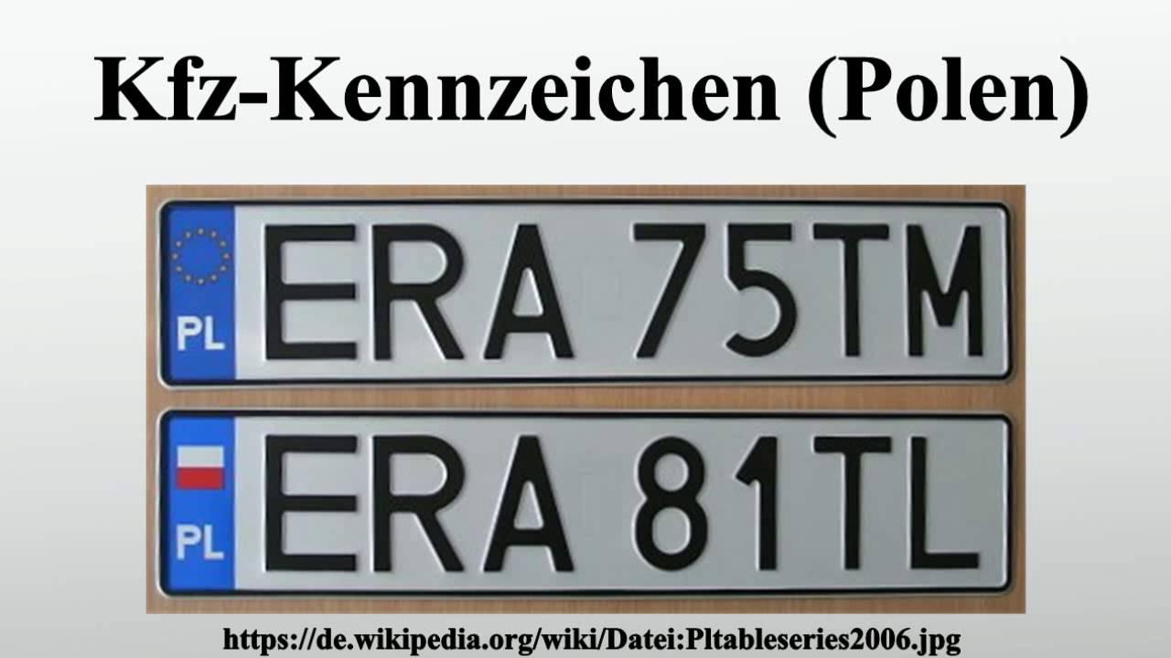 Kfz-Kennzeichen (Polen) - YouTube