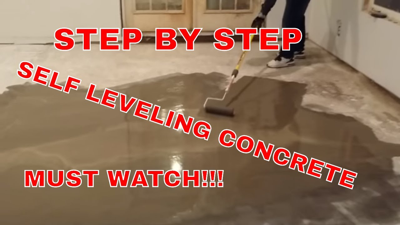 Making a self-leveling floor - step by step instructions