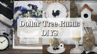 DOLLAR TREE RUSTIC DIYS | FARMHOUSE DECOR