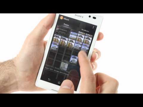 Sony Xperia C: user interface