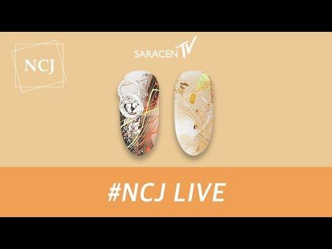 NCJ Live - 체인플라워 , 네온라인  네일아트 / Chain flower, Neon line Nail Art