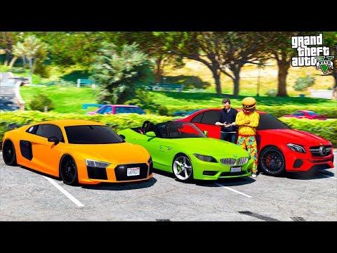 GTA 5 CAR THIEVES - ПОИСК САМЫХ ДОРОГИХ ТАЧЕК В БОГАТОМ РАЙОНЕ! НАШЕЛ НОВУЮ AUDI R8! 🌊ВОТЕР