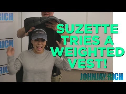 In-Studio Videos - Suzette Tries Johnjay's Weight Vest!