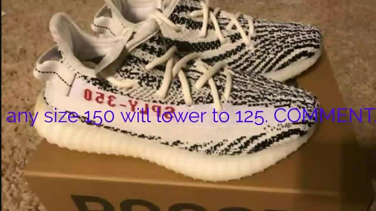3d3a59e7b Selling yeezy 350 v2 zebras for  150. on ebay or instagram. - YouTube