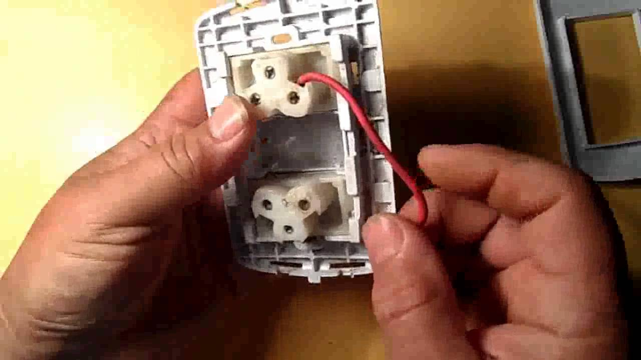Paso a paso armado tomacorriente doble video youtube - Interruptores y enchufes ...