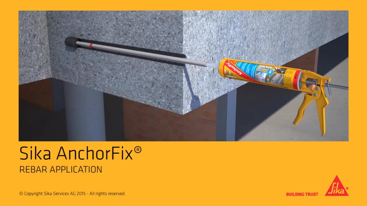 Sika anchorfix rebar application youtube - Sika anchorfix 3 ...