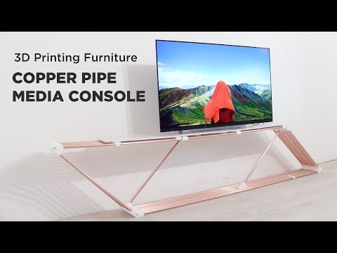 3d Printed And Copper Media Console