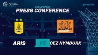 Aris v CEZ Nymburk - Press Conference - Basketball Champions League 2017-18