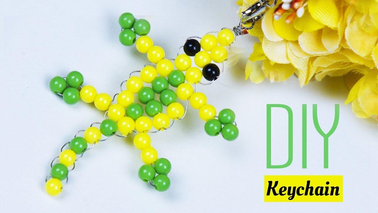 How To Make A Lizard Key Chain Diy Crafts Handmade Gift Ideas Beads Art
