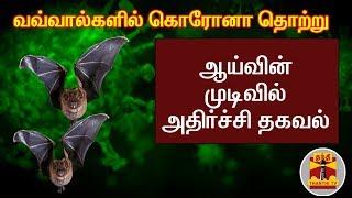 வவ்வால்களில் கொரோனா தொற்று : ஆய்வின் முடிவில் அதிர்ச்சி தகவல் | CoronaVirus | COVID19 | BATS