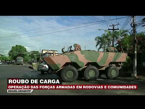 RJ: Forças Armadas Fazem Operação Contra Roubo De Carga