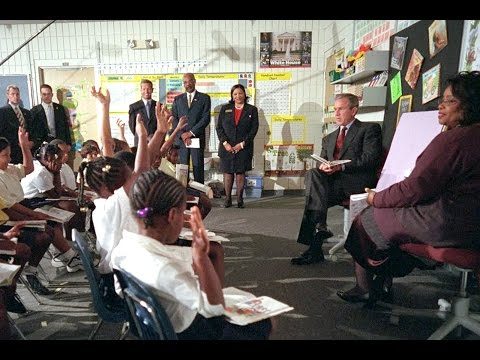 George Bush being told a 2nd plane hit the World Trade Center on 9/11