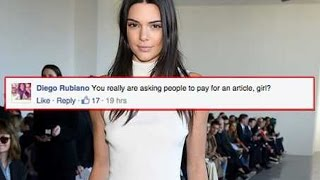 Fans Pissed About Kendall Jenner's Paywall