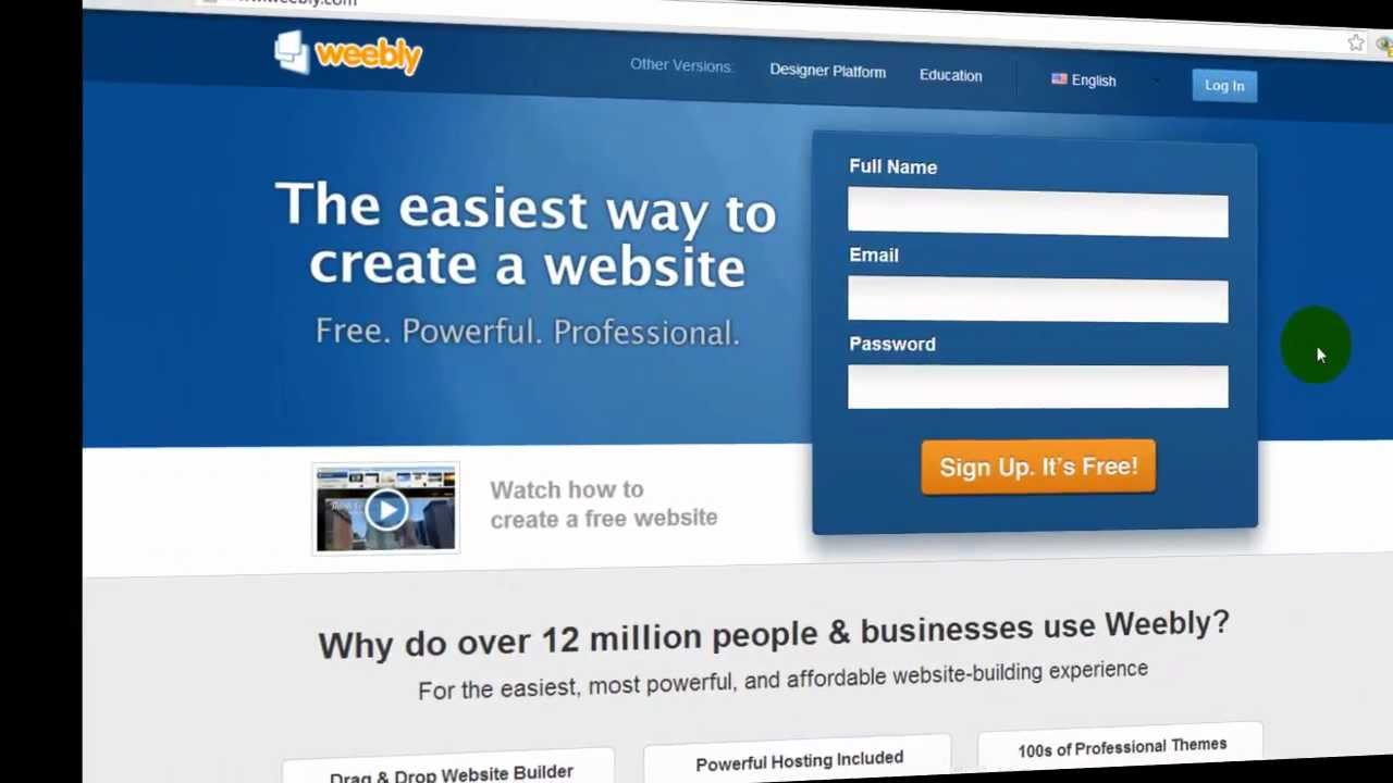 Weebly Tutorial - How to Sign Up and Set Up Domain Name with ...