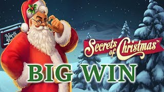 Secrets of Christmas online slot by Netent. Big win