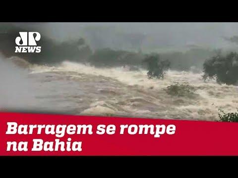 Veja o video Barragem se rompe em Pedro Alexandre, na Bahia; prefeito de cidade vizinha pede a moradores que deixem suas casas