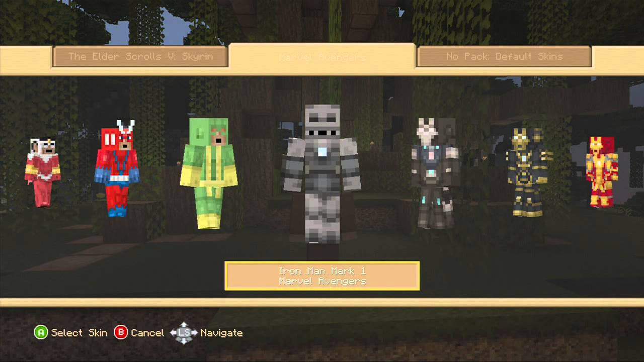 Minecraft (Xbox 360): Marvel Skin Pack Review Part 1 - YouTube