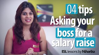 Repeat youtube video Learn 4 tips – Asking your boss for a salary raise (Business English lessons)