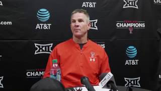 Texas Tech Baseball vs. Oregon: Game 2 Postgame Presser | 2019