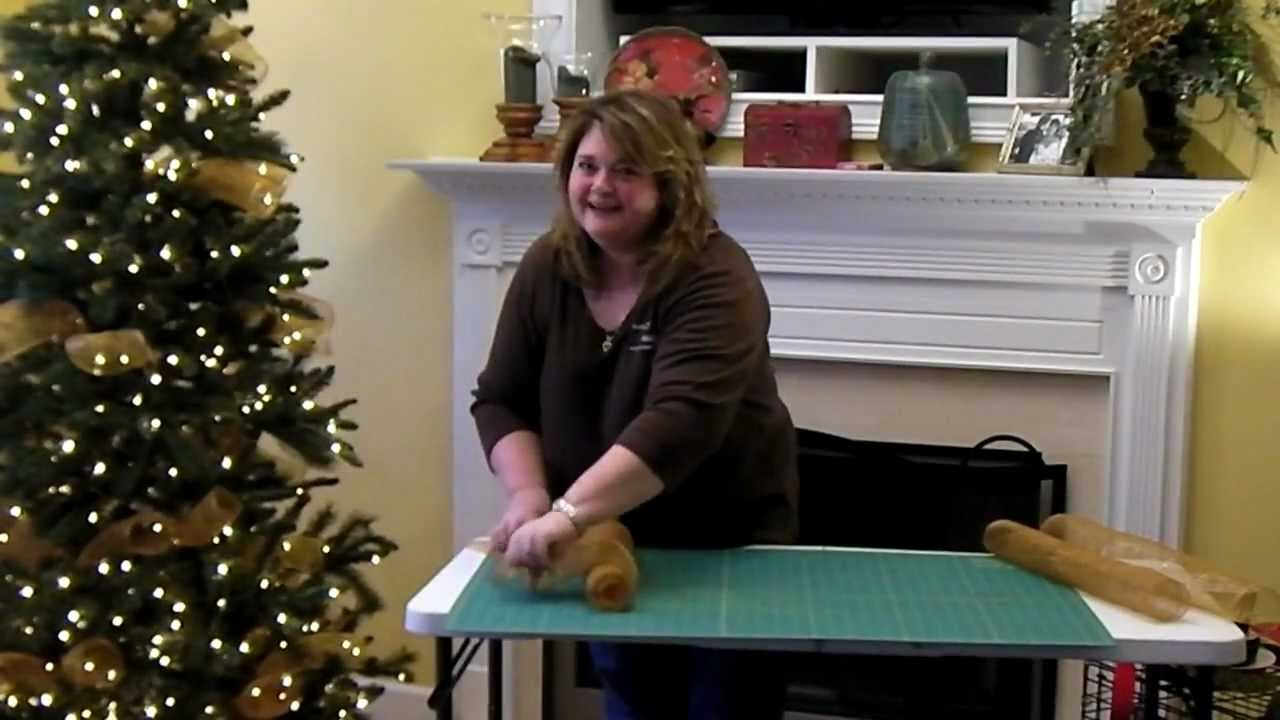 Add Deco Mesh To Christmas Tree Part 4