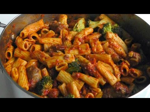 Pasta with Toulouse & Chorizo Sausages How to cook recipe