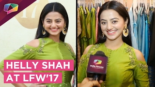 Helly Shah attends Lakme Fashion Week'17
