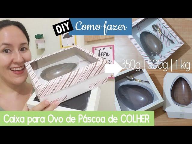 Como fazer Caixa para Ovo de Colher - 350g, 500g e 1kg | DIY
