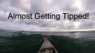 KAYAK FISHING HUGE WAVES!