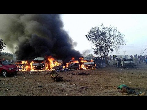 Nigeria exploded by twin bomb blasts in Gombe, 49 killed