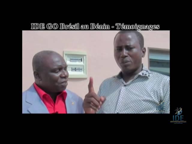 Testemunho Awo Pierre Projeto Benin  - IDE GO