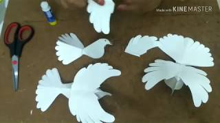 Paper freedom pigeon INDEPENDENCE DAY CRAFT SERIES