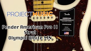 Fender American Pro II Strat Olympic White MN - Project Music