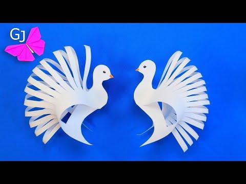 Голубь из бумаги / ОРИГАМИ ГОЛУБЬ / ORIGAMI BIRD