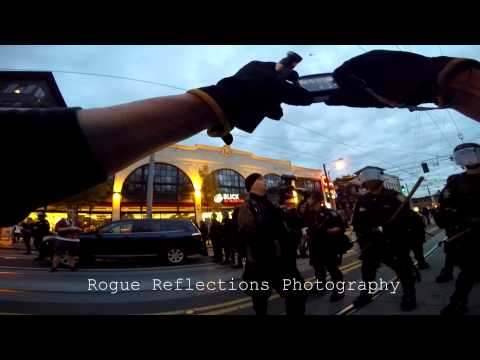 May Day Seattle: Cop tries calling me out because I have a gun too.