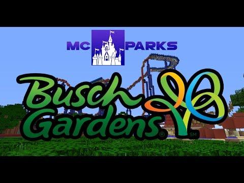 Minecraft Busch Gardens Tampa! MCParks Sneak Peek! OPENS 7-11-2015
