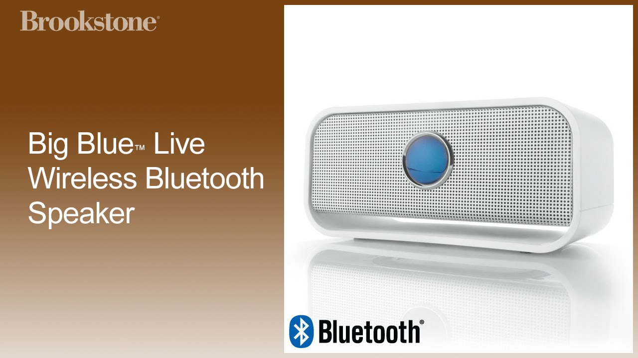 Big Blue Live Wireless Bluetooth Speaker Pairing W Apple Devices