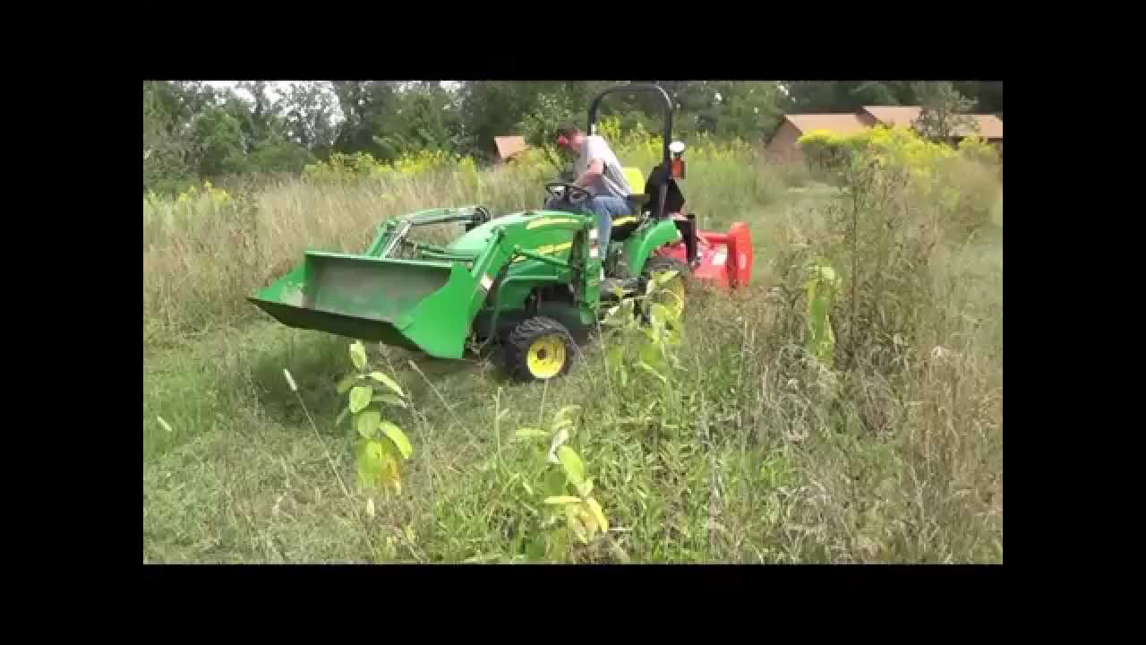 Mowing Small Orchard with 48 inch BEFCO Flail Mower