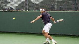 David Ferrer Forehand In Super Slow Motion 3 - Indian Wells 2013 - BNP Paribas Open