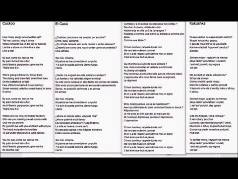 Polina Gagarina & Olga Zadonskaya - Kukushka +Lyrics English, Español, Francès, Russian Diction