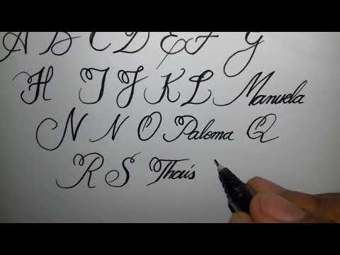 Alfabeto Maiúsculo com uma letra perfeita