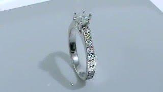 52508f985658 Anillo Compromiso Oro Blanco Diamantes Modelo XL by Joyeria Marloz